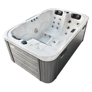 Soulmate Hot Tub silver white marble 2
